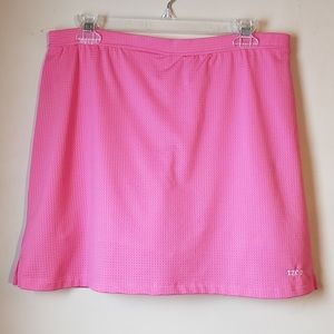 Izod Coral Pull-on Golf Skirt/Skorts X-tra Dry M